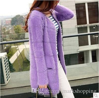angora mohair - Women s fall new tricotado mohair angora wool cashmere knitted long sweater cardigan coat cape overcoat sueter