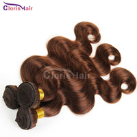 adorable hair weave - Dark Brown Human Hair Bundles Body Wave Peruvian Hair Weave Adorable Premium Too Wavy Hair Extensions Pieces Reliable Factory