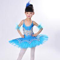 Wholesale Hot Kids Dancewear Ballet Clothes Children Performance Costume Gymnastics Dance Dress Leotard Skate Professional Ballet Tutus UD0020