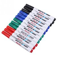 Wholesale 12pcs set Colors White Board Maker Pen White Board Whiteboard Marker Liquid Chalk Erasable Maker Pen Easy Erasing Pen