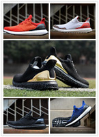 Wholesale Ultra Boost Uncaged Primeknit Man Running Shoes Sock Sports Black White Rainbow Blue Sneakers Size Us High Quality