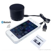 Wholesale Black Mini Portable Wireless Bluetooth Speaker Audio Sound Subwoofer Speaker Amplifier Stereo For iPhone Mobile Phone MP4