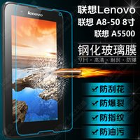 Wholesale H For Lenovo A8 A5500 quot Tablet PC Tempered Glass Screen Protector Protective Film