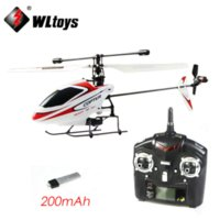 Wholesale WL Toys V911 G CH Single Blade Gyro RC MINI Outdoor Helicopter With LCD and Battery dropship drone toys gift
