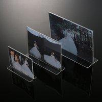 Wholesale High Quality Exquisite Plexiglass Photo Frames Transparent Acrylic Photo Frames Size quot quot quot quot quot A4 New Style MN F