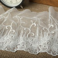 Wholesale 15Yard cm Cotton Lace Ribbon Fringe Embroidered Lace Trim Embroidery Guipure Lace Fabric Dentelle Sewing Accessories AC0436