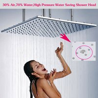 air pressure flow - 500 mm ceiling mounted super big size large flow shower head air injected high pressure water save massage shower head