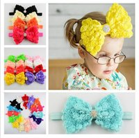 assorted headbands - Baby headbands Big Bows soft Rose Crystal headband colors assorted children baby girls hair accessories