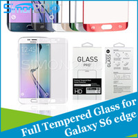 Wholesale For S6 Edge S6 edge plus D Full Cover Explosion Proof Premium Tempered Glass Screen Protector Protection Guard For Samsung Galaxy