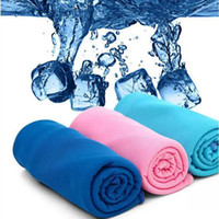 Wholesale Cold Towel x30cm cooling Towel Exercise Sweat Summer Sports Ice Cool Towel PVA Hypothermia Cooling Towel mix Single layer LC342