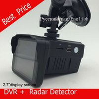 Wholesale car dvd H588 speed Car DVR Camera Radar Detector Speed Radar combo in1 quot LCD Russian or ENGLISH Voice