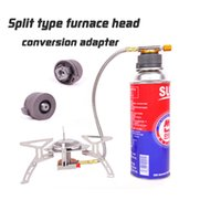 Wholesale Outdoor hiking Survival Camping Stove Adapter Conversion Split Type Gas Furnace Connector Cartridge Tank Adaptor Travel Kits