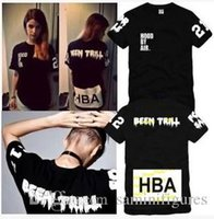 Wholesale Chinese Size S XXXL summer t shirt Hood By Air HBA X Been Trill Kanye West t shirt Hba tee shirt color cotton