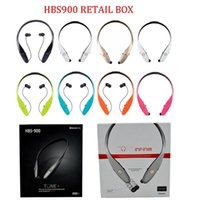 apple electronics - HBS Fashion Electronic Bluetooth Headphones Wireless Sport Headset For LG Apple Samsung Cell phone DHL