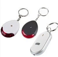 Wholesale hot sale key rings Wireless flashing whistle key finder led light cute anti lost electronic keyChain