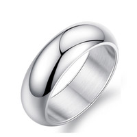 american welding - Fashion Day Jewelry Latest Men s mm Silver welded Titanium stainless steel rings for men and women