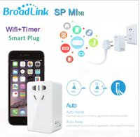 Wholesale Broadlink Smart Power Plugs smart wifi plug SP Min Smart Wireless WiFi Remote Control Socket EU