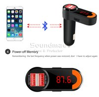 Wholesale BC10 FM Transmitter Wireless Bluetooth In Car Charger Car Radio Stereo Transmitter Handsfree Calling MP3 Player with Dual USB Ports