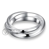 Wholesale silver plated ring for women wedding anelli donna Unisex Jewelry couple rings for men Cheap Simple elegant