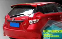 Wholesale High quality Stronger ABS material with color paint rear wing Spoilers Empennage for Toyota Yaris