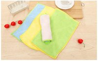 anti grease - High Efficient Anti grease Double Color Dish Cloth Microfiber Washing Towel Magic Kitchen Cleaning Wiping Rags WA0725
