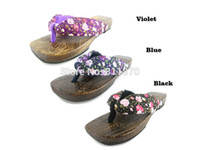 Wholesale Cosplay Inuyasha Kikyou Hell Girl Enma Ai Women s Shoes Clog Wooden Geta