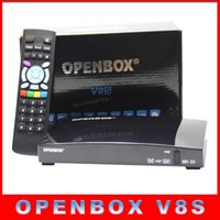 Wholesale 1PCS Original Openbox V8S Satellite Receiver S V8 SV8 Support WEBTV Biss Key x USB Slot USB Wifi G Youtube Youporn CCCAMD NEWCAMD