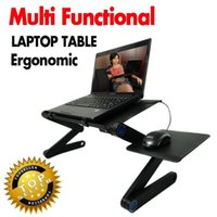 Wholesale Multi Functional Ergonomic mobile laptop table stand for bed Portable sofa laptop table foldable notebook Desk with mouse pad