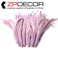 chicken wings - ZPDECOR cm inch Beautiful Dyed Dusty Pink Real Chicken Rooster Tail Feathers for Angel Wings
