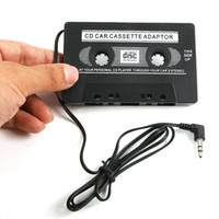 Wholesale New improve NEW AUDIO CAR CASSETTE TAPE ADAPTER CONVERTER MM FOR IPHONE IPOD MP3 AUX CD L0192460