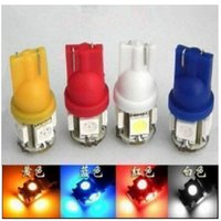 Wholesale Free DHL T10 SMD Bulbs Side Car LED Light W5W Wedge Xenon V White red blue yellow