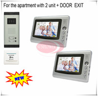apartment doorbell system - Classic Color Video Door Phones intercom systems For Apartments with two quot LCD Indoor units and two keys Doorbell