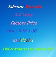 Wholesale Old customers purchase link silicone bracelet factory price multicolor S M L XL