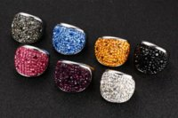 Wholesale Fashion Crystal Rings For Women Multicolor Rhinestone Stainless Steel Wedding Female Teen Jewelry ring knife