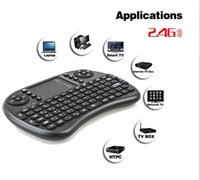 Wholesale Mini Wireless Keyboard Rii i8 GHz Air Mouse Keyboard Remote Control Touchpad For Android Box TV D Game Tablet Pc