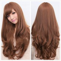 auburn dresses - Women Long Girl Curly Hair Cosplay Costume Dress Party Wigs