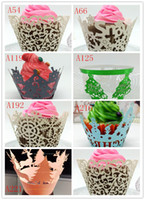 Wholesale New European creative cake surrounding edge hollow out Christmas paper cup cake cupcake paper around lace