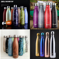 Wholesale 44 Styles S well Bottle Stainless Steel Vacuum Flask Cup Swell Sports Mug oz ml Hot Cool Drinking Free DHL