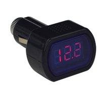 Wholesale Digital LCD Cigarette Lighter Voltage Panel Meter Monitor Car Volt Voltmeter
