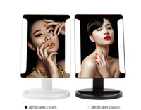 Wholesale LED Make up Mirror Cosmetic Portable Compact LED Light Table Desktop Mirror For Woman And Man