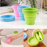 Wholesale Colorful Cup Portable Silicone Retractable Folding Collapsible Outdoor Travel Tumbler cupTelescopic Collapsible Soft Drinking Water Bottles