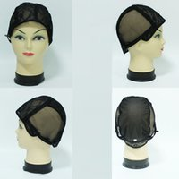 WIGCAP base net - 5PCS Black color wig Full cap net Jewish Base wig caps for making wigs Glueless lace Wig Caps Adjustable Strap On the Back