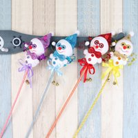 Wholesale Christmas Show Sock - 10 pcs Christmas Snowman Doll Toy handheld wand bell bar creative party game show activities
