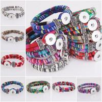 al por mayor valentine broche encanto-Muchos colorean Nacional de las pulseras del encanto de la pulsera de moda Noosa Snap Button envuelven joyas pulseras de moda Jewely Valentine E550L regalo
