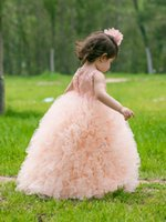 attractive kids gifts - Children s day party dress Custom Made Attractive Kid Dress lace crochent tulle Tutu Girls Dress Kid Birthday Gift A8096