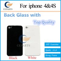bar doors - High Quality Mobile Phone Back Housing for iPhone s Black White Battery Door Back Glass Cover with DHL fast shipping