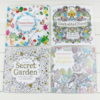 Wholesale 4 Design Secret Garden An Inky Treasure Hunt and Coloring Book Children Adult Relieve Stress Kill Time Graffiti Painting Drawing Book