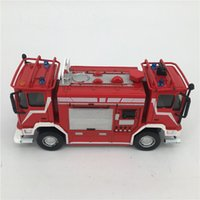 bi modelling - 1 Janus Bi fronte BAI Italy Scale Fire Truck Toy Fire Fighting Truck Model Kids Toys Classic Vehicles Collection