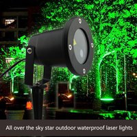 Wholesale All over the sky star outdoor waterproof laser Projection lamp Outdoor Lighting courtyard laser lawn light