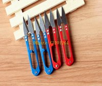 Wholesale 500pcs Fast shipping Cheaper U Shape Clippers Sewing Trimming Scissors Nippers Embroidery Thrum Yarn Tailor s Scissors
